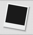 Photorealistic Retro Style Photo Frame Isolated on vector image vector image