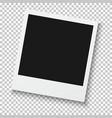 Photorealistic Retro Style Photo Frame Isolated on vector image