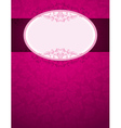 pink background with big label and many roses vector image vector image