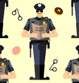 Police Seamless patetrn vector image vector image