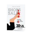Poster of shoes sale