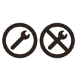 Repair and no repair symbol vector image vector image