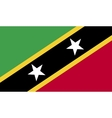 Saint Kitts and Nevis flag image vector image