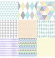 set geometric patterns image vector image