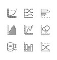 set line icons graph and diagram vector image vector image