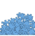 Set of Blue Pazzle Jigsaw Pattern vector image vector image