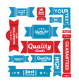 set retro banners and labels vector image vector image