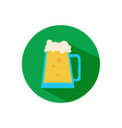 simple beer pitcher flat icon vector image vector image