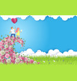 spring couple date composition for card poster vector image
