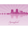 Springfield skyline in purple radiant orchid vector image