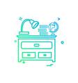 study table icon design vector image