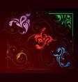 Swirl decorations vector image vector image
