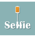 Taking Selfie Photo on Smart Phone hand hold vector image vector image