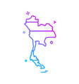 thailand map icon design vector image vector image