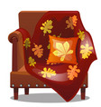 the furniture in the style of a fall soft chair vector image vector image