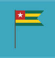 togo flag icon in flat design vector image vector image