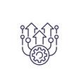 upgrade line icon vector image