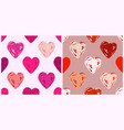Valentines day seamless patterns with pink