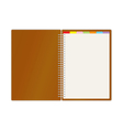 Weekly business planner book vector image vector image