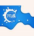 white milk splash blot drink element abstract vector image vector image