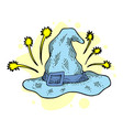 wizard hat sketch engraving t-shirt vector image vector image
