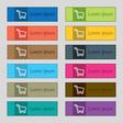 Shopping cart icon sign Set of twelve rectangular vector image