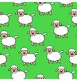 white lamb pattern green vector image