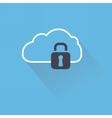 Secure digital cloud with lock vector image