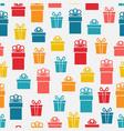 festive bright gift box seamless pattern vector image