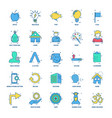 25 business concept mix flat color icon set vector image vector image