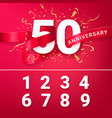 50th anniversary celebration event invitation vector image vector image