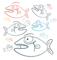 Abstract Fish vector image vector image
