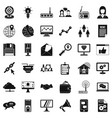 all day help icons set simple style vector image vector image