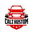 automotive car shield logo design vector image