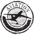 aviation stamp vector image vector image