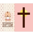 baptism invitation design vector image vector image