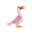 beautiful water bird on a vector image vector image
