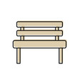 bench park rest comfort chair decoration vector image vector image