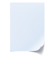 Blank sheet of paper vector