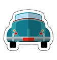 blue car vintage just married vector image
