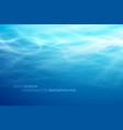 blue deep water and sea abstract natural vector image vector image