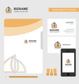 boat business logo file cover visiting card and vector image vector image