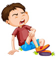 Boy hurting from accident vector image vector image