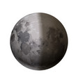 bright realistic moon with half shadow on white vector image vector image