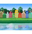 Bright Suburban Landscape vector image vector image