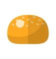 Bun flat icon vector image
