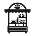 burger kiosk icon simple style vector image vector image