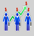 Business people collage pin vector image vector image