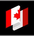 canada flag isolated canadian ribbon banner state vector image vector image