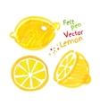 Childlike drawing of lemon vector image vector image